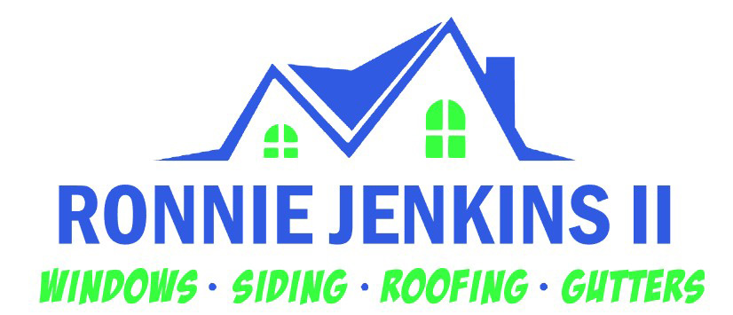 Ronnie Jenkins II Windows Siding Roofing and Gutters Logo